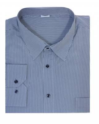 Риза дълъг ръкав райе в сиво екстра