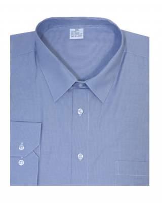Риза дълъг ръкав ситно райе в синьо екстра
