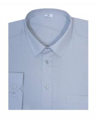 Риза дълъг ръкав сив