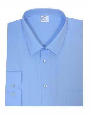 Риза дълъг ръкав светлосин