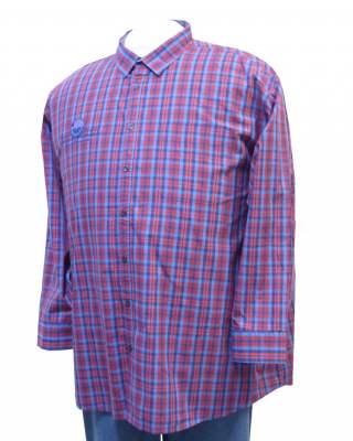 Риза Каре в червено дълъг ръкав