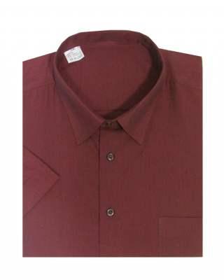 Риза къс ръкав  бордо екстра