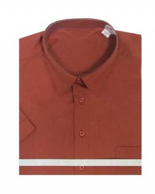 Риза къс ръкав брик 65