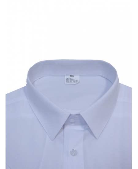Риза къс ръкав бял