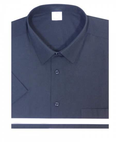 Риза къс ръкав черен