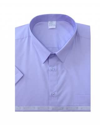 Риза къс ръкав лилав