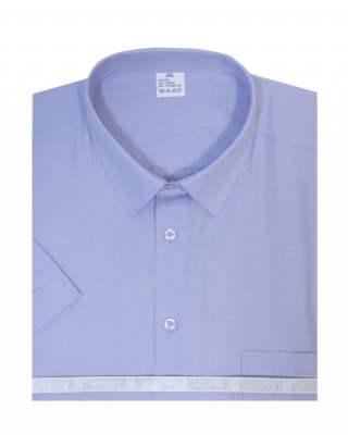 Риза къс ръкав пепит в лилаво