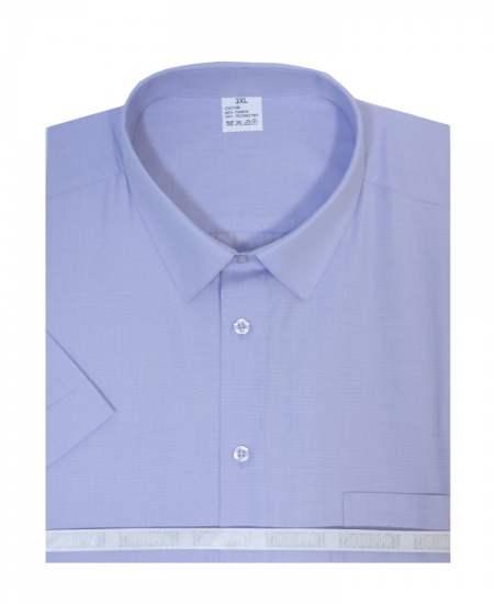 Риза къс ръкав пепит в лилаво екстра