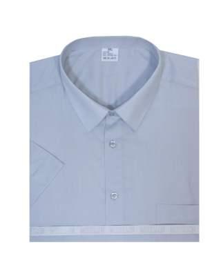 Риза къс ръкав сив