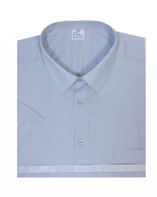 Риза къс ръкав сив екстра
