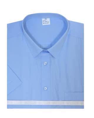 Риза къс ръкав светлосин