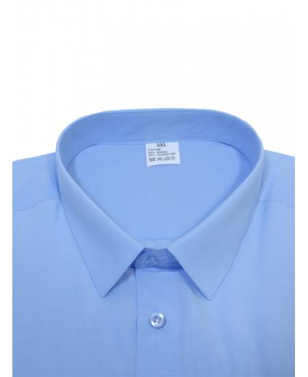 Риза къс ръкав светлосин екстра