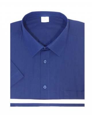 Риза къс ръкав тъмносин екстра