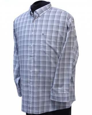 Риза Светло каре в сиво дълъг ръкав