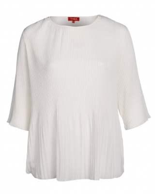 Блуза плисе в бяло