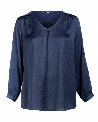 Блуза плоха в тъмносиньо