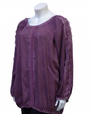 Блуза винтидж с дантела