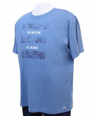 Тишърт Koyote 701211 в синьо-сив